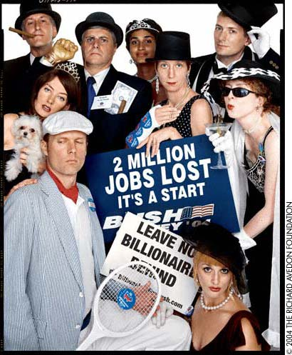 Billionaires for Bush by Richard Avedon